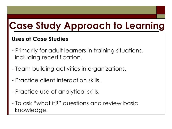 Use of Case Study Methods in Human Resource ... - ERIC