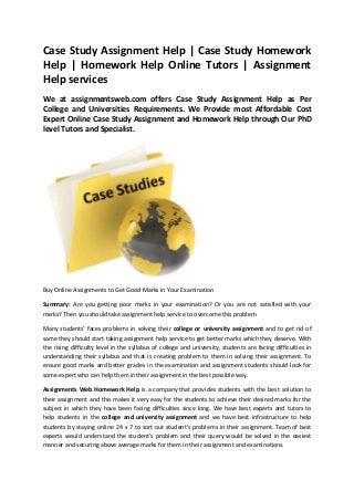 Case study writing services format pdf