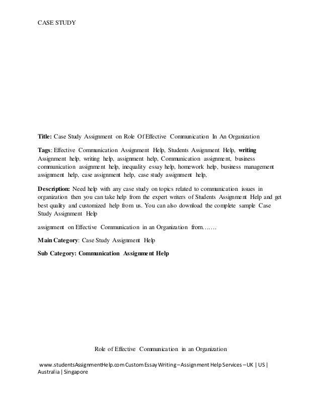 written communication case study