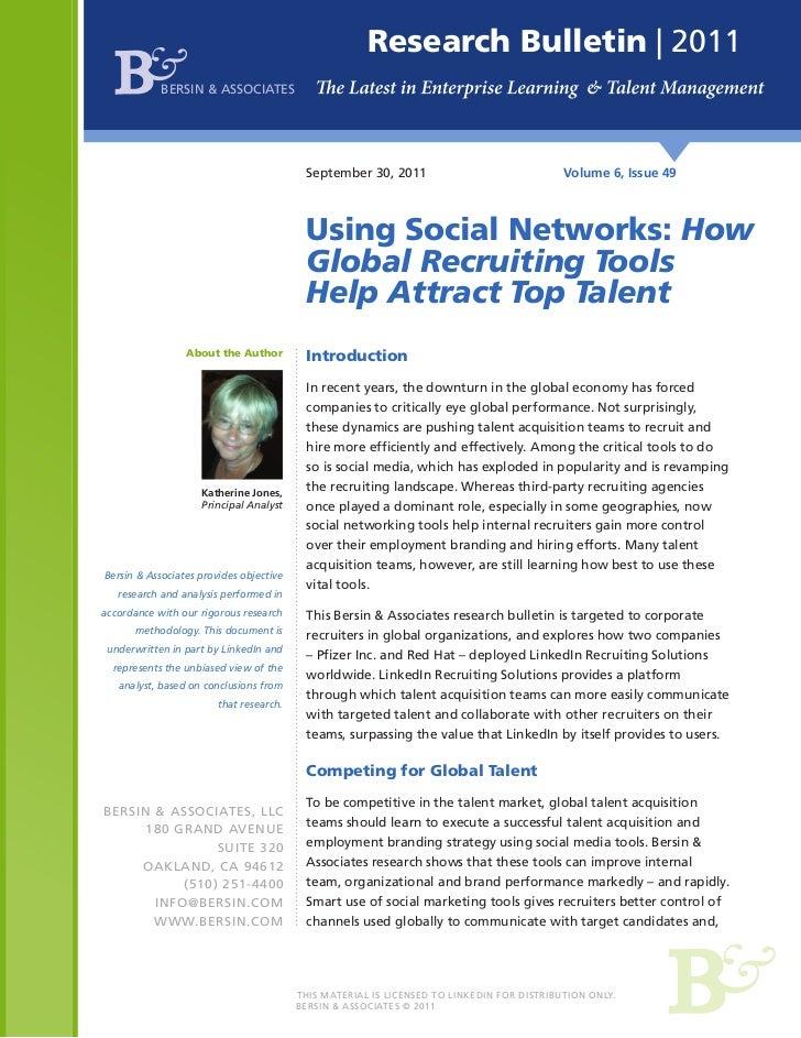 Research Bulletin | 2011            BERSIN & ASSOCIATES                                          September 30, 2011       ...