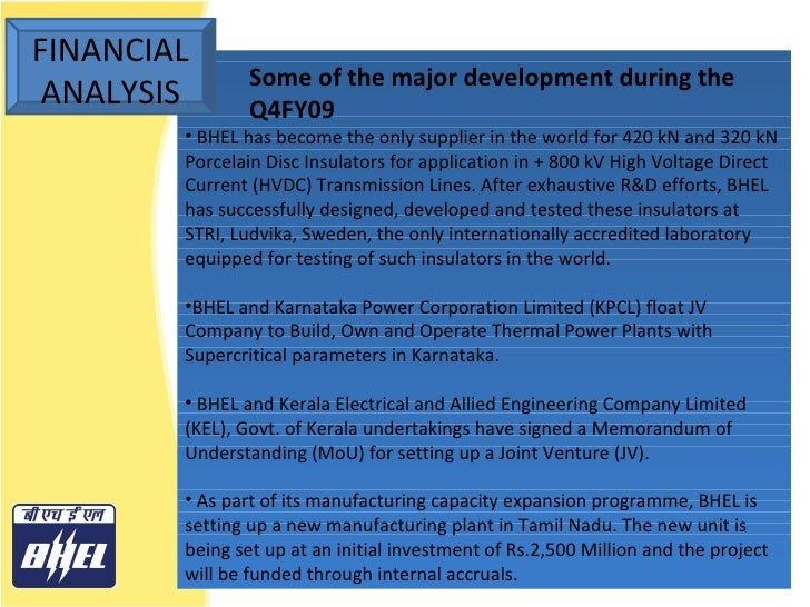 bhel case study As just mentioned, the purpose of the case study is to let you apply the concepts you've learned when you analyze the issues facing a specific company.