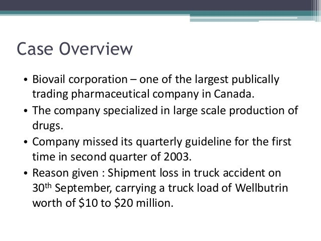 biovail truck accident revenue Biovail corporation: revenue recognition and fob sales accounting case solution, biovail corporation: revenue recognition and on a truck accident involving.