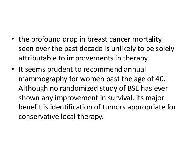 Improved breast cancer survival following introduction of ...