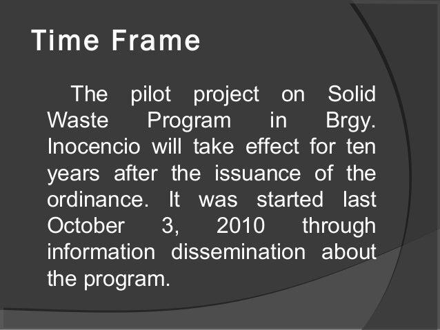 Environmental Problem In Barangay Free Essays