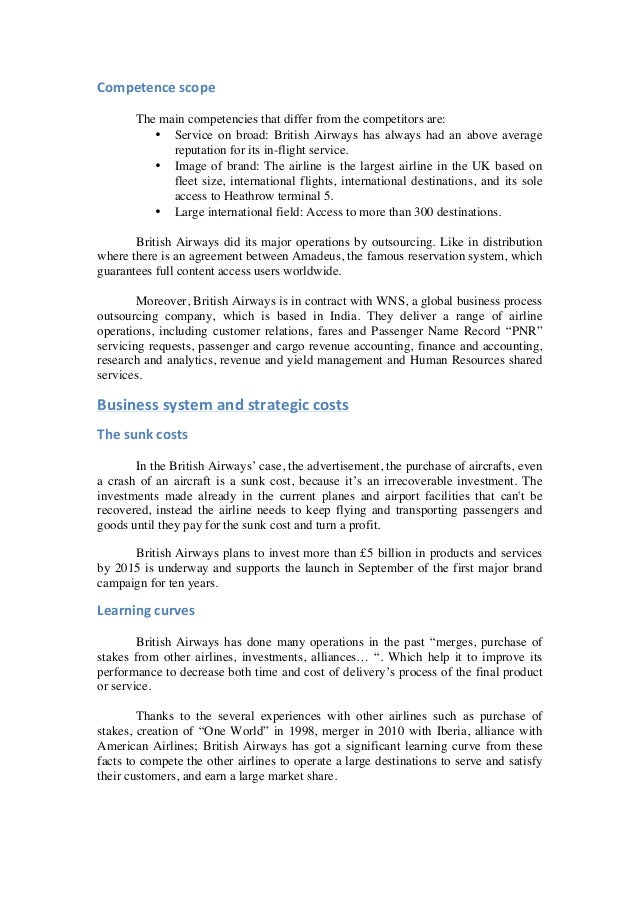 """british airways case study essay A case study of british airways """"in reviewing the case study on british airways it is important to consider the full 10 another outstanding reflective essay."""