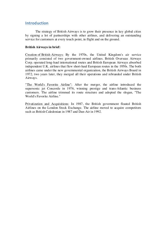 British airways crm case study