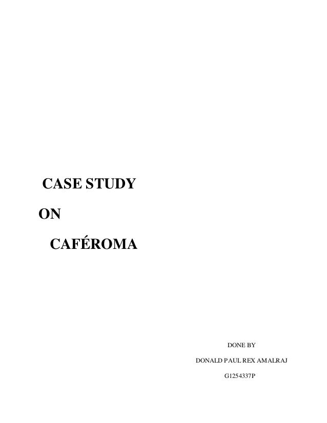 caferoma analysis coffee Caferoma caferomabackgrounda well-known italian-style brand coffee,the company based in italythe attraction of caferoma is ground coffee  analysis expenses of.
