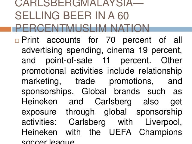 analysis of the carlsberg advertisements As big-ticket items like tv, radio, outdoor advertising and  in russia, carlsberg- owned beer brand baltika sponsored both the  analysis.