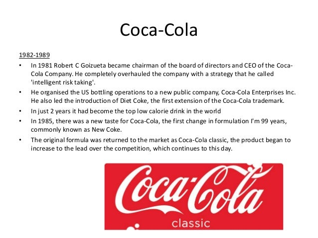 research methodology of coca cola Introduction coca cola markets nearly 2,400 beverages products in over 200 geographic locations as a result development of a superior value system is.