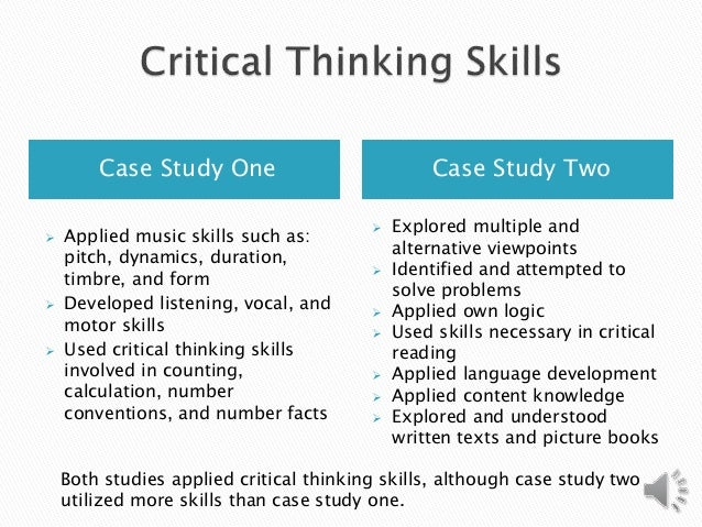 is critical thinking important for study §1 the importance of critical thinking critical thinking is a domain-general thinking skill the ability to think clearly and rationally is important whatever we.