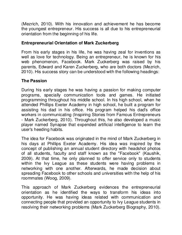 mark zuckerberg case study In this case, we already took the  mark zuckerberg fan club  and how the study of thousands of years of history applies to today's security environment.