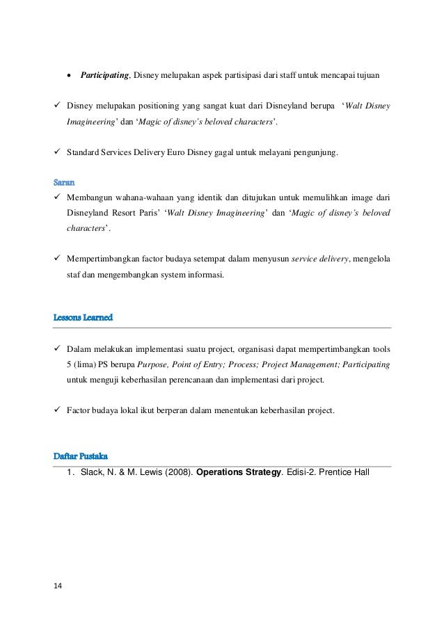 euro disney case study recommendations Euro disney case study essay sample introduction: the disneyland paris resort is owned and managed by euro disney located in marne la valle, france, it is the largest tourist attraction in europe.