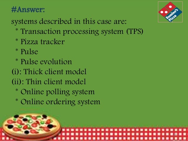 domino s sizzles with pizza tracker Free essays on pizza   domino's upgraded pulse evolution system incorporated a pizza tracker functionality that  with domino's pizza they tell the.