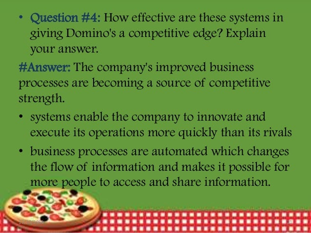 "dominos pizza operations process and information 2009-12-27  domino's pizza reshaping online ordering system, hiring ann arbor  domino's pizza chief information officer chris  of ""in-sourcing"" its it operations."