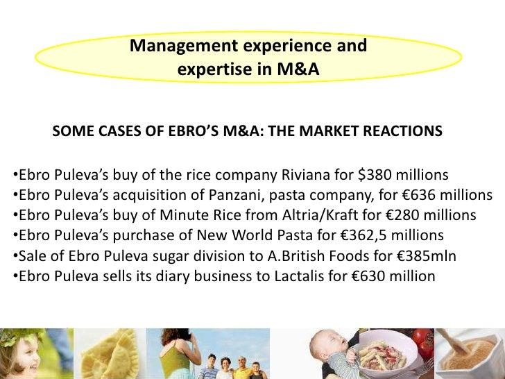 Case Study Ebro Puleva