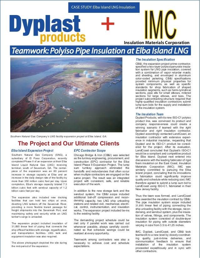 CASE STUDY: Elba Island LNG Insulation                                                                                +   ...
