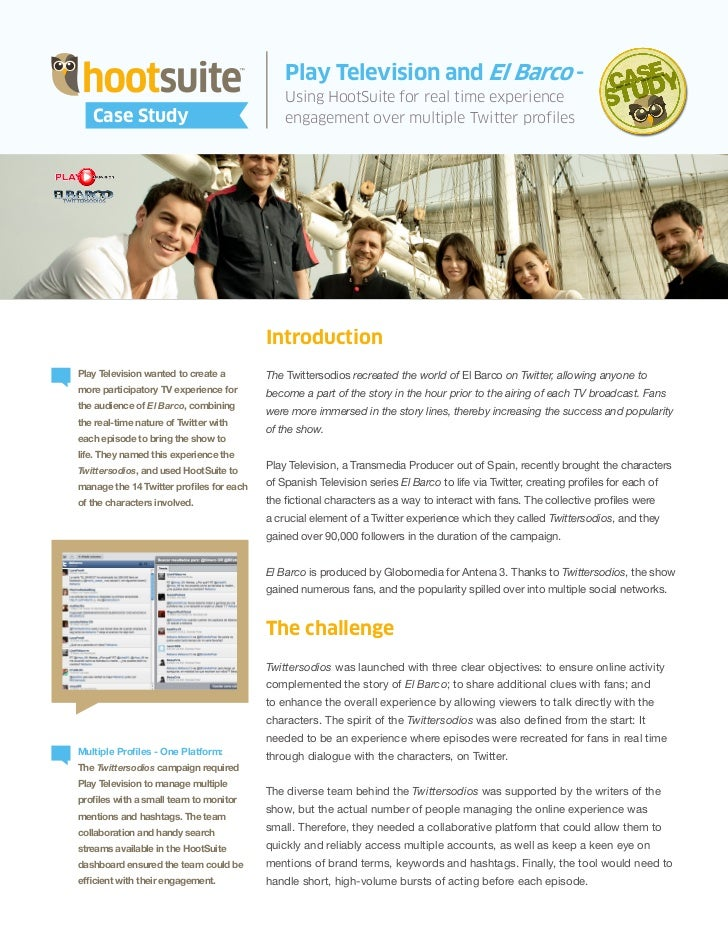 Play Television & HootSuite - The Twittersodios Case Study