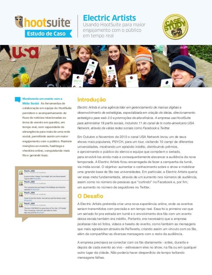 HootSuite Case Study - Electric Artists (Português/Portuguese)