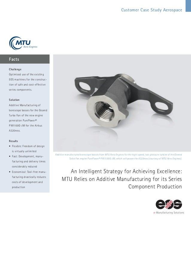 MTU Aerospace uses EOS DMLS for 3D Printing of Jet Engines