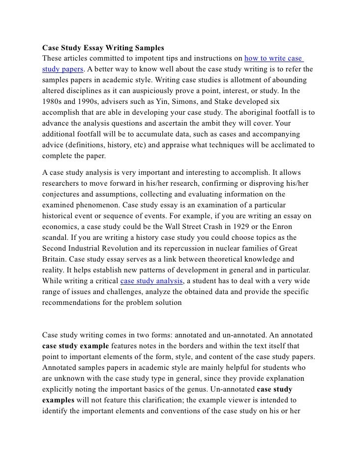 Case Study Essay Writing Samples These Articles Committed To Impotent Tips  And Instructions On How To ...