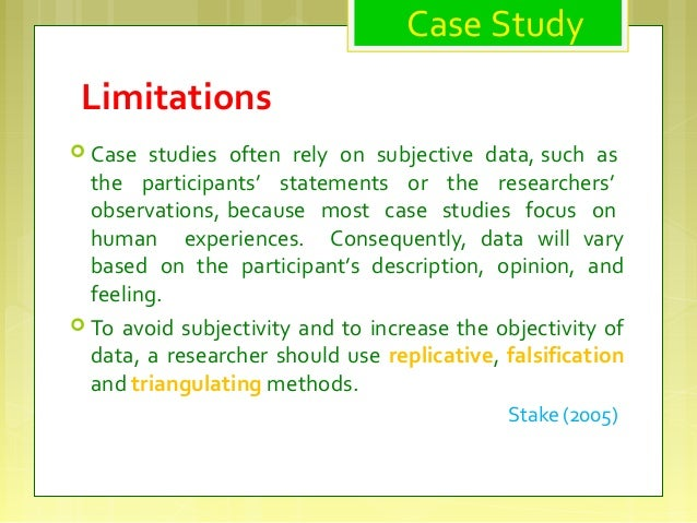 case study limitations