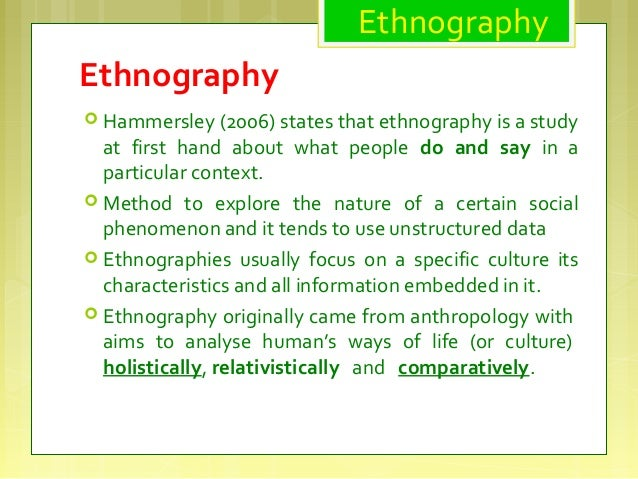 What differentiates a case study from ethnography, as ...