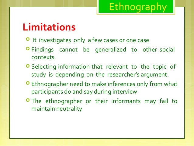 ethnography and case study a comparative analysis Definition of research method known as ethnography provided  the site of study,  to offer much in the way of comparative insight, this is not the case.