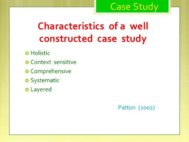 case study approach Qualitative case study methodology provides tools for researchers to study complex phenomena within their contexts when the approach is applied correctly, it becomes a valuable method for health science research to develop theory, evaluate programs, and develop interventions.