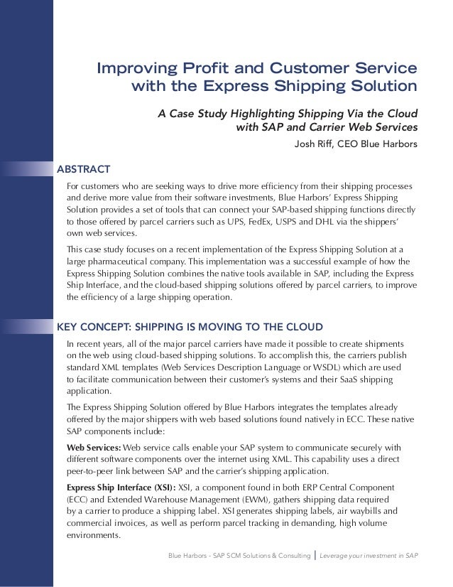 Blue Harbors - SAP SCM Solutions & Consulting Leverage your investment in SAP Improving Profit and Customer Service with t...