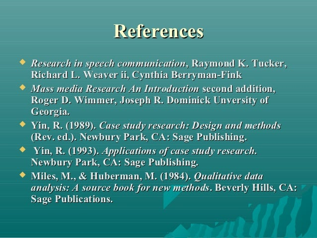 yin r. (1984). case study research design and methods Lessons on the utilization of research from nine case experiences in the natural hazards field  case study research: design and methods  yin, rk & moore,.