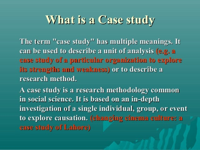 Limitations Of Case Study Research