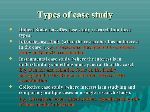 types of case study