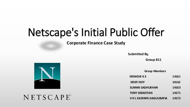 netscape ipo harvard case