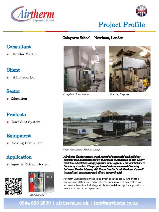 Project Profile Colegrave School – Newham, London  Consultant ■  Fowler Martin  Client ■  AC Preou Ltd  Sector  Completed ...