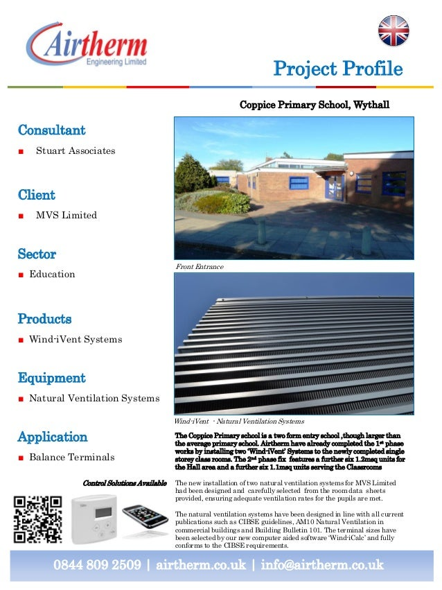 Project Profile Coppice Primary School, Wythall  Consultant ■  Stuart Associates  Client ■  MVS Limited  Sector Front Entr...