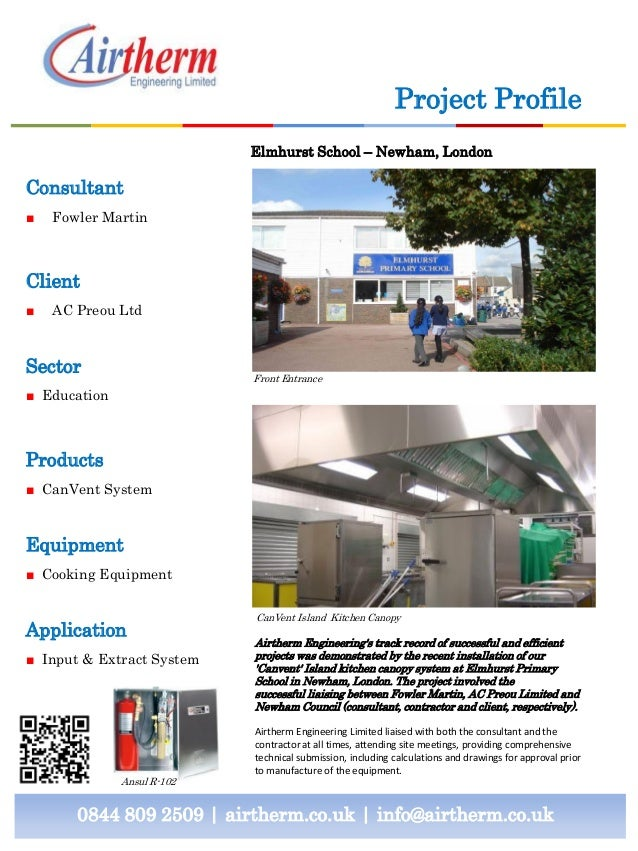 Case Study Kitchen Canopy Fire Suppression Systems