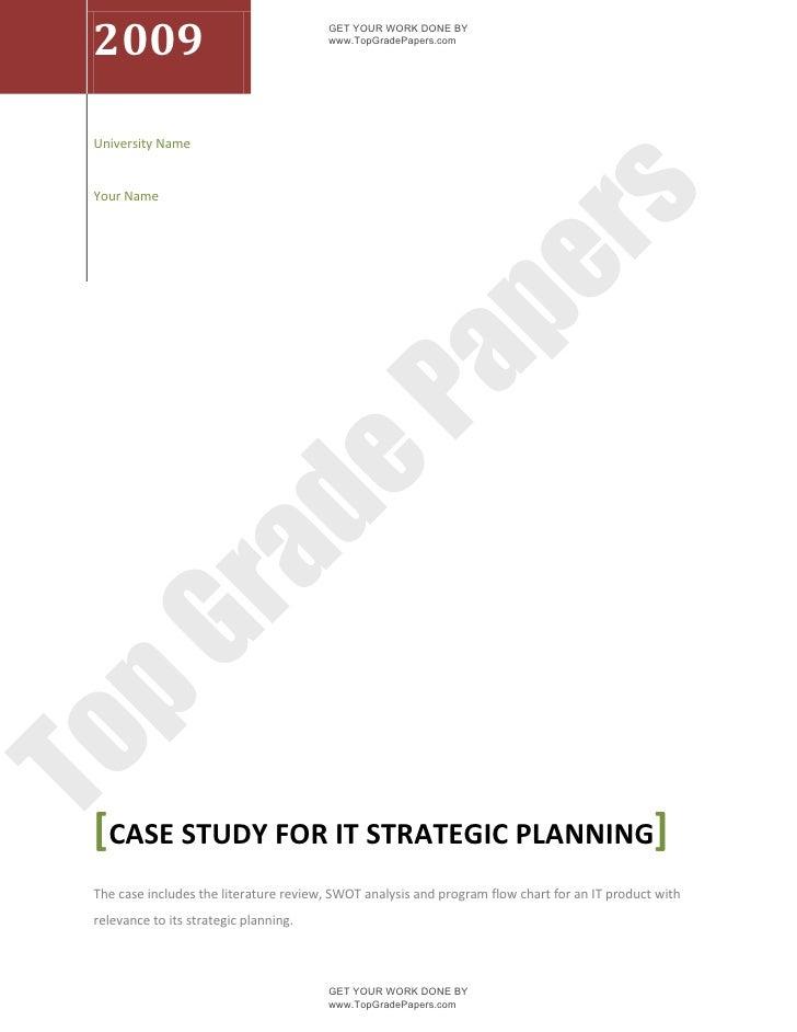 Strategic planning case