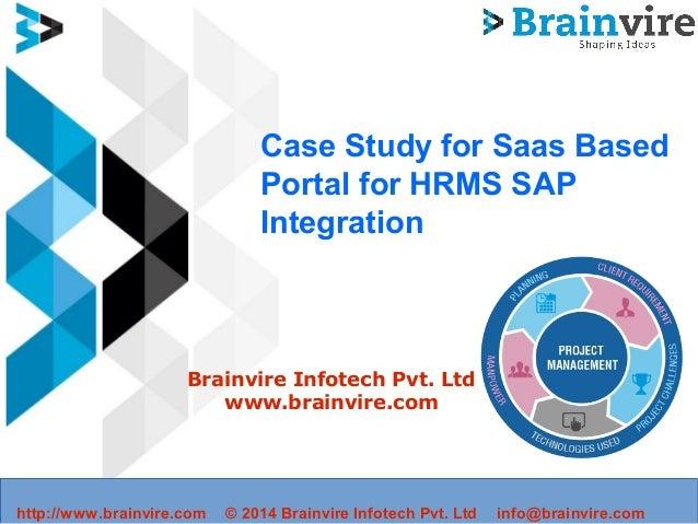 Case Study for Saas based Portal for HRMS SAP integration