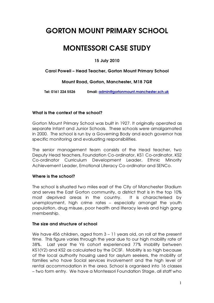 Gorton Mount Case Study