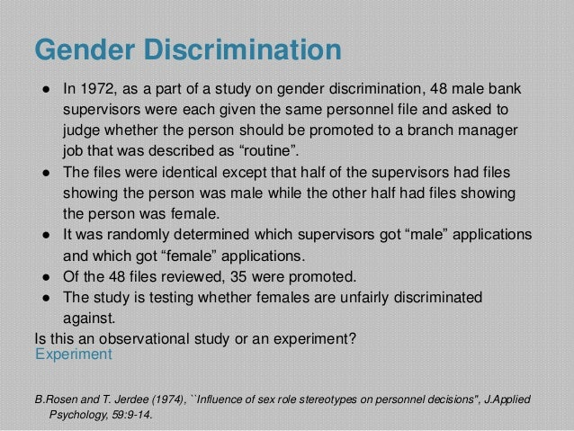 Thesis statement: Gender inequality