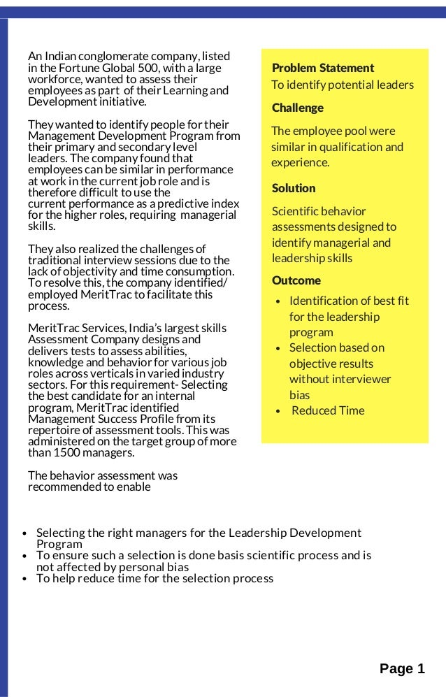 case study on leadership and management Find new ideas and classic advice for global leaders from the world's best business and management experts.