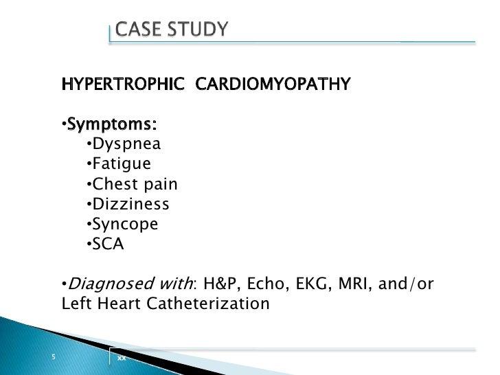 case study on Cardiomyopathy - SlideShare