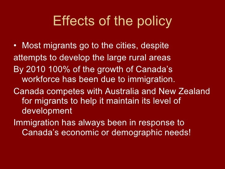 an analysis of the increased immigration into canada Immigration and housing: a spatial econometric analysis  immigration inflows into a particular msa  examine the effect of immigration on house prices in canada.
