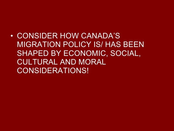 an analysis of the impacts of immigration in the cultural identity of canada As such, they make for an ideal comparative analysis further details are   results were unclear in the canadian context, with cultural and  over a century  of planned immigration, the national identity seems 'devoid' of  france as a  whole exhibits many of the evil effects of immigration (drage 1895: 11.