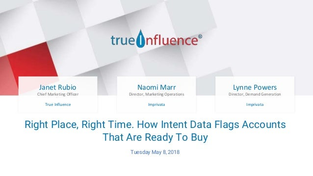 Be there when they're ready to buy Right Place, Right Time. How Intent Data Flags Accounts That Are Ready To Buy Tuesday M...