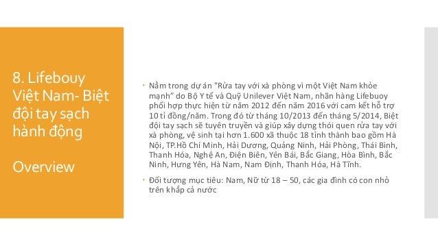 """8. Lifebouy Việt Nam- Biệt đội tay sạch hành động Overview  Nằm trong dự án """"Rửa tay với xà phòng vì một Việt Na..."""