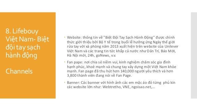"""8. Lifebouy Việt Nam- Biệt đội tay sạch hành động Channels  Website: thông tin về """"Biệt Đội Tay Sạch Hành Động"""" đươ..."""