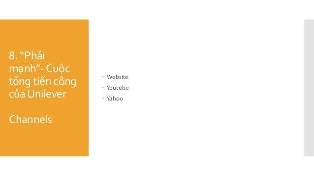 """8. """"Phái mạnh""""-Cuộc tổng tiến công củaUnilever Channels  Website  Youtube  Yahoo"""