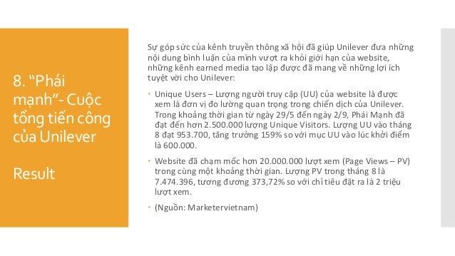 """8. """"Phái mạnh""""-Cuộc tổng tiến công củaUnilever Result Sự góp sức của kênh truyền thông xã hội đã giúp Unilever đưa ..."""