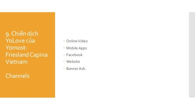 9.Chiến dịch YoLove của Yomost- FrieslandCapina Vietnam Channels  OnlineVideo  MobileApps  Facebook  Website  BannerA...